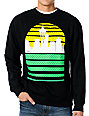 Casual Industrees Seattle Sky Black Crew Neck Sweatshirt