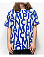 Champion Allover Print Block Text Grey T-Shirt