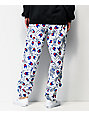 Champion Allover Tag Print Super Fleece White Jogger Sweatpants