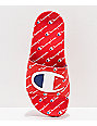 Champion IPO Repeat Red Slide Sandals