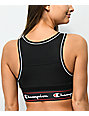 Champion Script Black Mesh Sports Bra