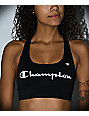 Champion Script Logo Black Sports Bra