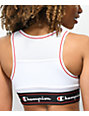 Champion Script White Mesh Sports Bra