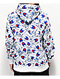 Champion Super Fleece Allover Tag Print White Hoodie