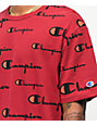 Champion Wrap Around Script Cherry camiseta
