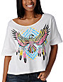 Crafty Thunderbird White Crop Top T-Shirt