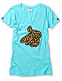 Crooks and Castles Air Gun Leopard Turquoise T-Shirt