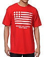 Crooks and Castles Ammo Flag Red T-Shirt