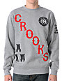 Crooks and Castles Anthem Grey Crew Neck Sweatshirt