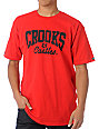 Crooks and Castles Core Logo Red T-Shirt