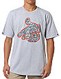 Crooks and Castles Crackle Air Gun Grey T-Shirt