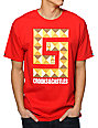 Crooks and Castles Greco Pyramid Red T-Shirt
