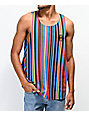 Cross Colours Dark Multicolor Stripe Tank Top