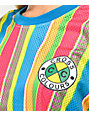 Cross Colours Sherbet camiseta corta de malla a rayas