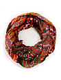 D&Y Mixed Brown Tribal Print Infinity Scarf