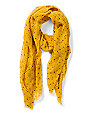 D&Y Yellow Hearts Print Scarf