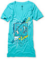 DC Kelly Aqua V-Neck T-Shirt