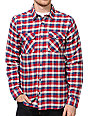 DC Red Long Sleeve Flannel Button Up Shirt