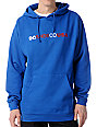 DC Shoes RD Letters Blue Pullover Hoodie