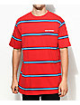 DGK Dash Red, Blue & White Striped T-Shirt
