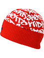 DGK Fat Tip Red Beanie