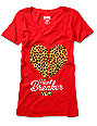 DGK Heart Breaker Red V-Neck T-Shirt
