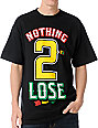 DGK Nothing 2 Lose Black & Rasta T-Shirt