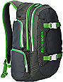 Dakine Mission Charcoal & Green Backpack