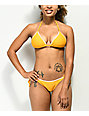 Damsel Blanket Stitch Tuscon Yellow Triangle Bikini Top