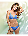 Damsel Forget Me Not Blue Pique Triangle Bikini Top