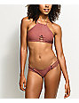 Damsel See Thru Me bottom de bikini cheeky en color tobaco