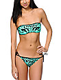 Damsel Tiger Eyes Mint Bandeau Bikini Top