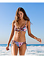Damsel Waikiki Purple Floral Lace Up Reversible Cheeky Bikini Bottom