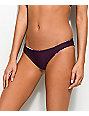 Damsel bottom de bikini cheeky reversible en tropical y color vino