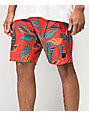 Dark Seas Eddy Red Board Shorts