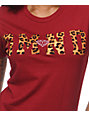 Diamond Supply Co DMND Leopard Red T-Shirt