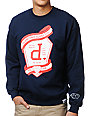 Diamond Supply Co Un Polo Emblem Navy Crew Neck Sweatshirt