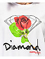 Diamond Supply Co. Rose OG Sign camiseta blanca