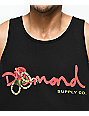 Diamond Supply Co. Snake OG camiseta sin  mangas negra