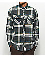 Dravus Beacon Oat, Charcoal & Green Flannel Shirt
