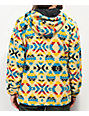Dravus Glacier Tribal Print Beige Sherpa Tech Fleece Jacket