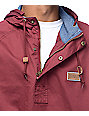 Dravus Timber Maroon Twill Anorak Jacket