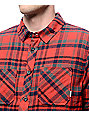 Element Cupsaw Sherpa Red Flannel Shirt