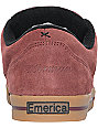Emerica G Code Herman Burgundy & Gum Skate Shoes