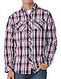 Empyre Alonso Red & Blue Plaid Woven Shirt