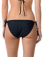 Empyre Annex Black Polka Dot Side Tie Bikini Bottom