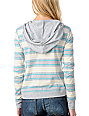 Empyre Bainbridge Grey Stripe Knit Pullover Hoodie