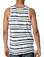 Empyre Bloc Party White Stripe Tank Top