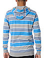 Empyre Blue Streak Blue Stripe Pullover Hooded Shirt