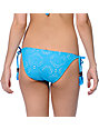 Empyre Bondi Neon Blue Crochet Side Tie Bikini Bottom